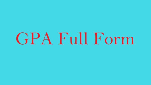GPA Full Form