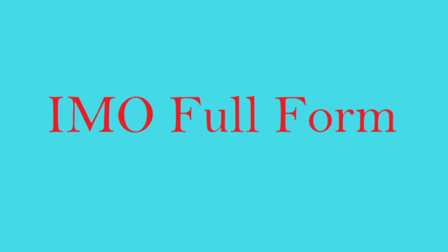 IMO Full Form