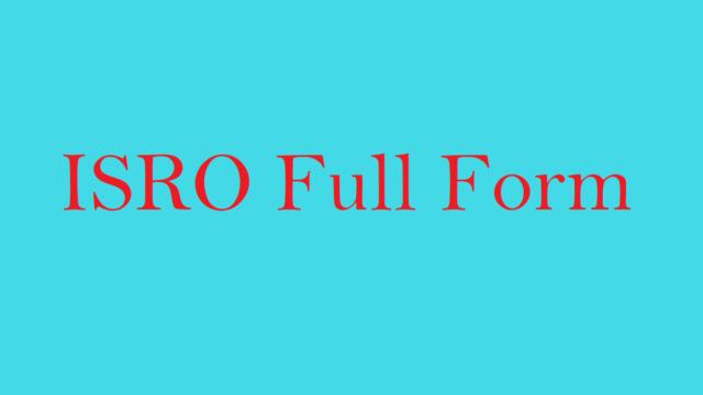 ISRO Full Form