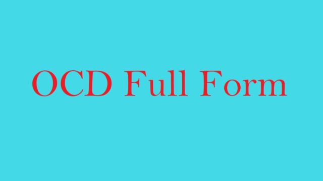 OCD Full Form