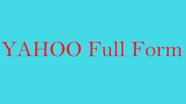 Yahoo Full Form