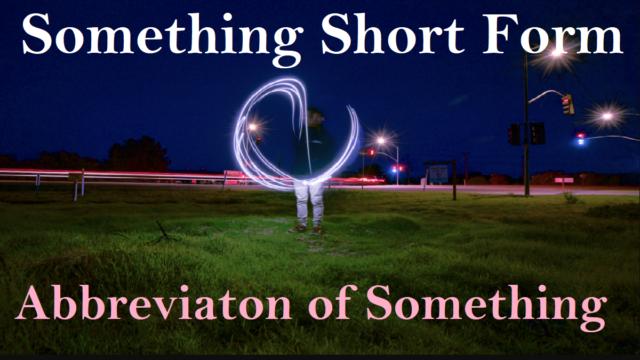 Something Short Form