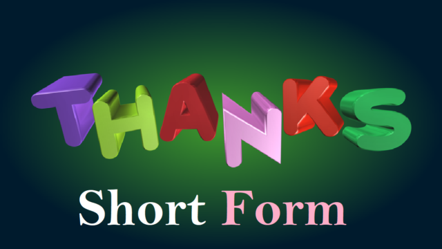 Thanks Short Form