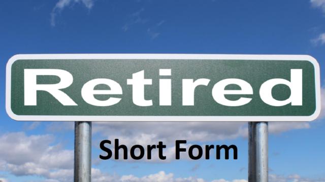 Retired Short Form