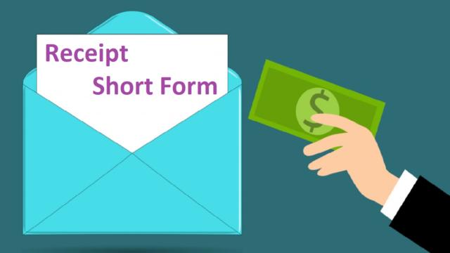 Receipt Short Form