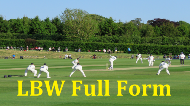 What is LBW Full Form
